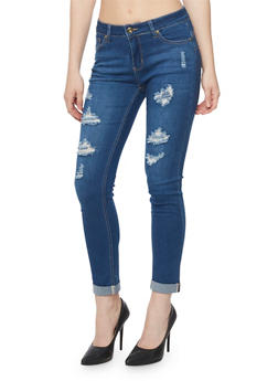 WAX Distressed Denim Jeans - 3074071613301