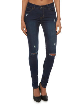 WAX Jean Distressed Skinny Jeans - 3074071613500