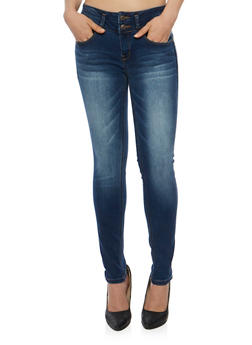 WAX Two Button Push Up Skinny Jeans - 3074071618075
