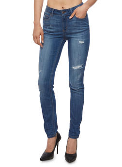 Wax Whisker Wash Skinny Jeans - 3074071619000