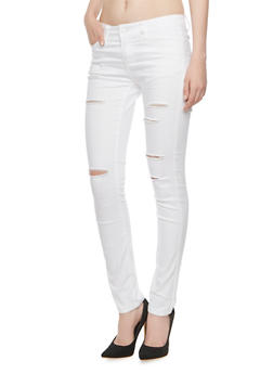 WAX Jeans Distressed Skinny Jeans - 3074071619002