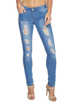 WAX Jeans Distressed Skinny Jeans - 3074071619002