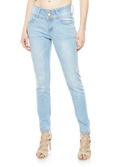 Wax Push Up Triple Button Jeans - 3074071619007