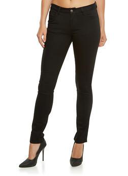 WAX Jean Five Pocket Skinny Pants - BLACK - 3074071619010