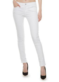 WAX Jean Five Pocket Skinny Pants - WHITE - 3074071619010