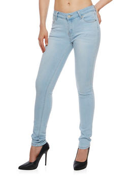 Wax Light Wash Skinny Jeans - 3074071619037