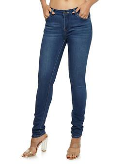 Wax Light Wash Skinny Jeans - 3074071619037