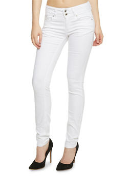 Wax 2 Button Skinny Jeans - 3074071619048