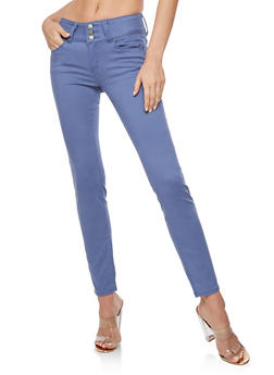 WAX Colored 3 Button Push Up Skinny Jeans - 3074071619057
