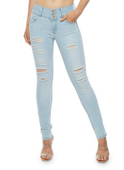 WAX 3 Button Push Up Jeans - 3074071619067