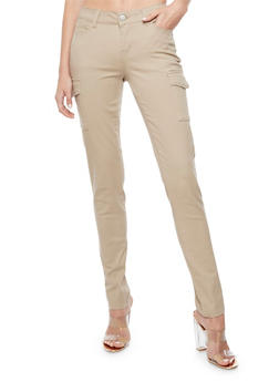 Cargo Twill Skinny Pants - 3074071619101