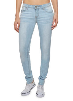 WAX Skinny Jeans with Whisker Wash Details - 3074071619300