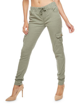 Pull On Skinny Cargo Pants - 3074072290393