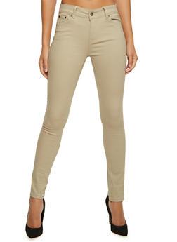 Twill Skinny Pants - 3074072292059