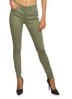 Twill Skinny Pants - OLIVE - 3074072292059