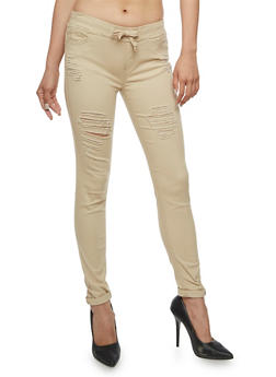 Ripped Skinny Pants - 3074072292345