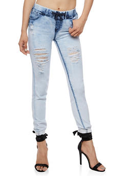 Whisker Wash Skinny Joggers - 3074072292346