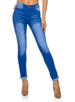 Faded Whisker Wash Jeans - 3074072293351