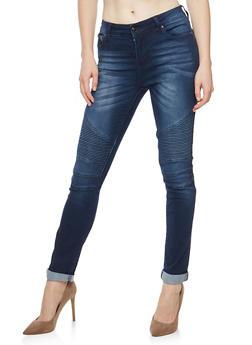 Skinny Moto Jeans - 3074072293601