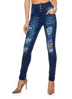 Wide High Waisted Jeans - 3074072298389