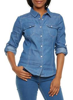 Denim Western Shirt - 3075051060884