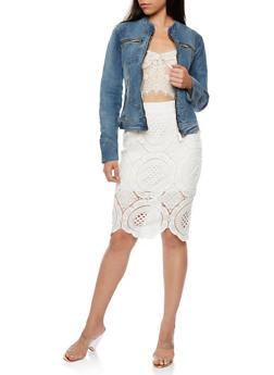 Zip Up Denim Jacket - 3075051067617