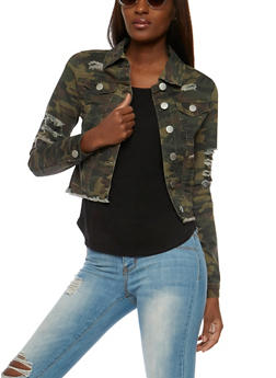 VIP Jeans Camouflage Weekend Graphic Jacket - 3075065308872
