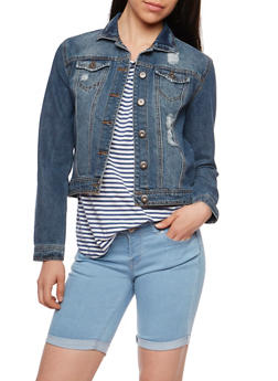 Highway Jeans Distressed Denim Jacket - 3075071317787