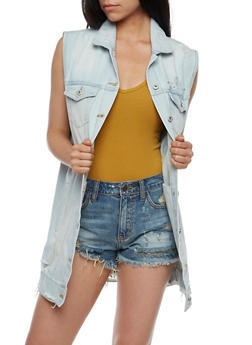Highway Jeans Long Denim Vest - 3075071317962