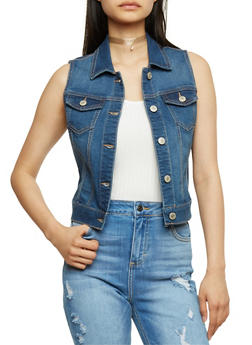 WAX Classic Denim Vest - MEDIUM WASH - 3075071619022