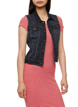 WAX Classic Denim Vest - DARK WASH - 3075071619022