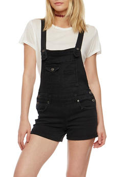 Almost Famous Distressed Denim Shortalls - 3076015994868