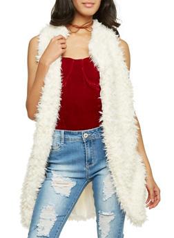Long Vest in Faux Fur - 3084038347003