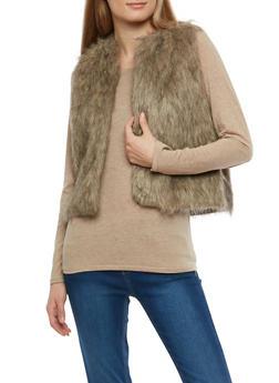 Faux Fur Vest - 3084038348083