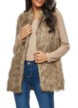 Long Faux Fur Vest - 3084038348084