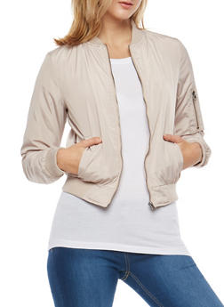 Solid Bomber Jacket - 3084051061000