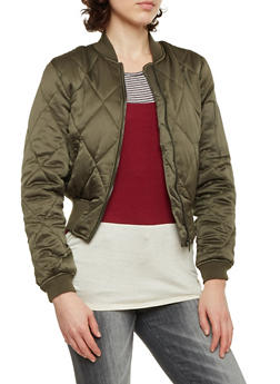 Quilted Bomber Jacket in Cropped Fit - 3084051064510