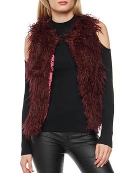 Shag Faux Fur Vest - 3084051064748