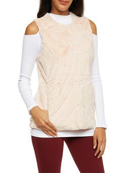 Faux Fur Vest - 3084051067490