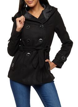 Wool Hooded Peacoat Jacket - 3085051065000