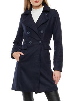 Long Wool Peacoat Jacket - 3085051068041