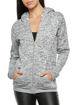 Sherpa Lined Hooded Sweatshirt - 3086038342598