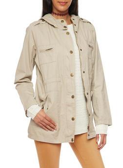 Anorak Jacket with Drawstring Waist - 3086038347041