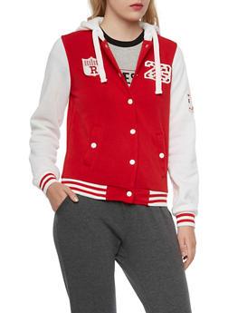 Varsity Jacket with Hood - 3086051061141