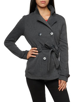 Belted Peacoat - 3086051065277