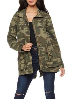 Camo Twill Anorak Jacket - 3086051067545