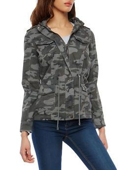 Camo Print Anorak Jacket - 3086051067546