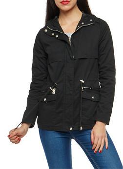 Hooded Zip Front Anorak Jacket - 3086051067585
