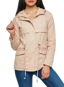 Hooded Zip Front Anorak Jacket - 3086051067585