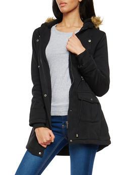 Sherpa Lined Knit Anorak Jacket - 3086054267544
